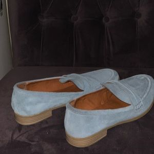 Baby Blue Suede Loafer